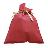 ラッピングキット リボン付きバッグ・巾着バッグ 〔サイズ〕W380×H570mm〔厚み〕80g/㎡〔マチ形状 XLサイズ